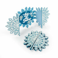 Sizzix - Holiday Blessings Collection - Thinlits Die - Card, Snowflake Fold-a-Long