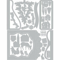 Sizzix - Winter Greetings Collection - Thinlits Die - Holiday Shadow Box 2