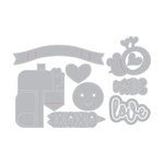 Sizzix - Made with Love Collection - Thinlits Die - Valentine Embellishments