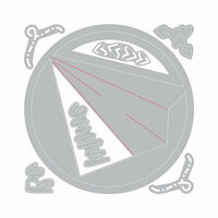 Sizzix - Sending Love Collection - Framelits Die with Clear Acrylic Stamp Set - Paper Airplane Love