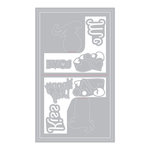 Sizzix - Sending Love Collection - Thinlits Die - Card, Love Birds 3D