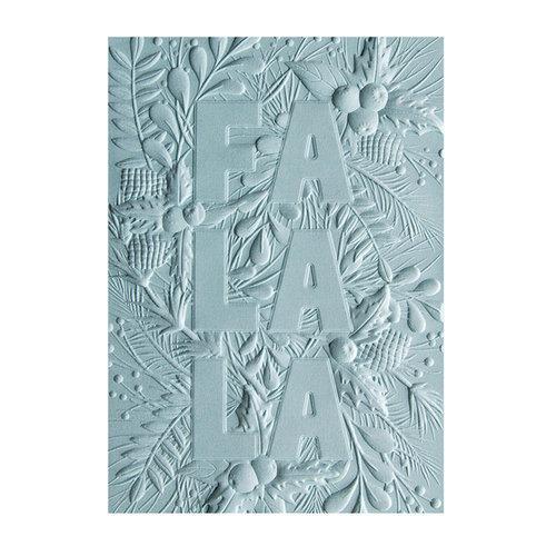 Sizzix - Christmas - 3D Textured Impressions - Embossing Folders - Fa La La