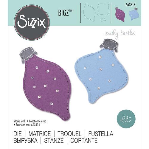 Sizzix - Christmas - Bigz Die - Retro Baubles