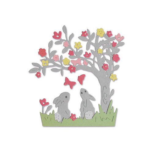 Sizzix - Thinlits Die - Bunny Scene