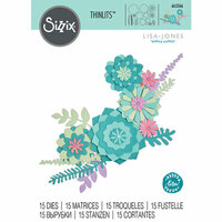 Sizzix - Thinlits Die - Succulent Wreath