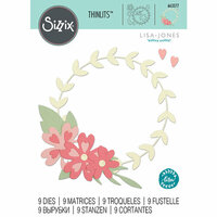 Sizzix - Thinlits Die - Floral Wreath