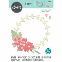 Sizzix - Thinlits Die - Floral Wreath