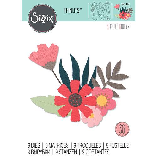 Sizzix - Thinlits Die - Free Style Florals