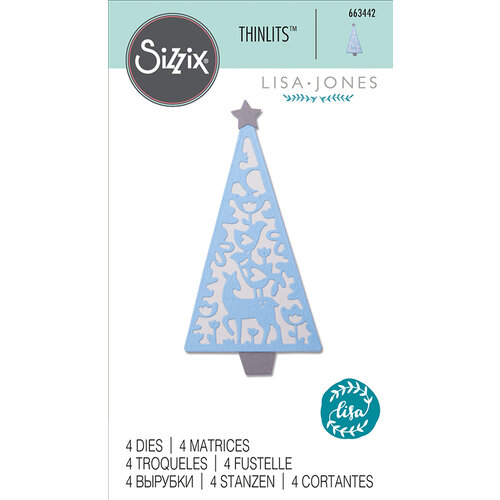 Sizzix - Thinlits Die - Folk Christmas Tree