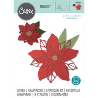 Sizzix - Christmas - Thinlits Die - Poinsettia