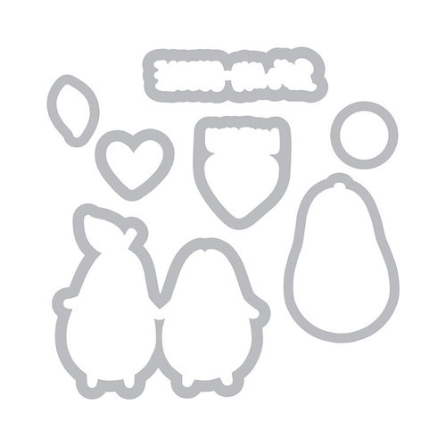 Sizzix - Framelits Die with Clear Acrylic Stamp Set - Avocuddle