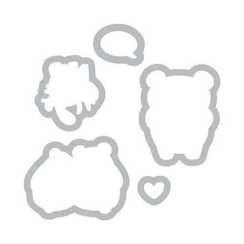 Sizzix - Framelits Die with Clear Acrylic Stamp Set - Bear Hugs