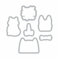 Sizzix - Framelits Die with Clear Acrylic Stamp Set - Nine Lives