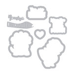 Sizzix - Framelits Die with Clear Acrylic Stamp Set - T-Rex