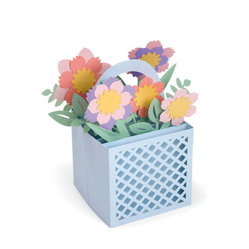 Sizzix - Thinlits Die - Card in a Box Flower Basket