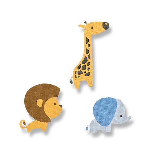 Sizzix - Thinlits Die - Baby Jungle Animals