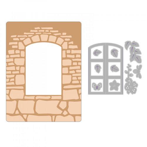Sizzix - Impresslits Embossing Folder - Window Box