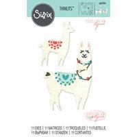 Sizzix - Thinlits Die - Llama and Baby Llama
