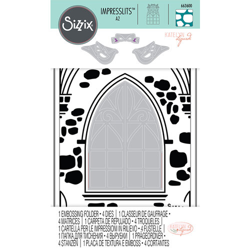 Sizzix - Impresslits - Embossing Folder - Wedding Window