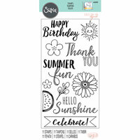 Sizzix - Clear Acrylic Stamps - Hello Sunshine
