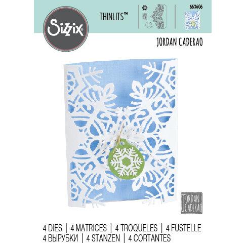 Sizzix - Christmas - Thinlits Die - Card Wrap, Snowflake