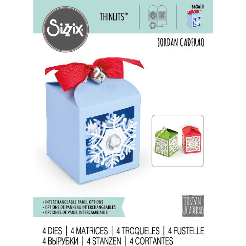Sizzix - Christmas - Thinlits Die - Snowflake Favor Box