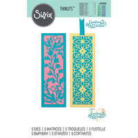 Sizzix - Thinlits Die - Botanical Bookmarks