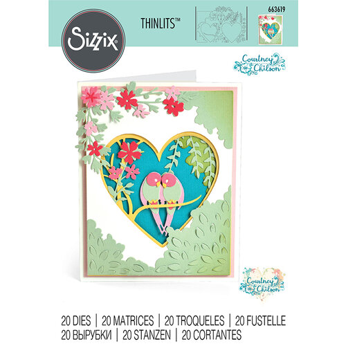 Sizzix - Thinlits Die - Love Birds Shadow Box