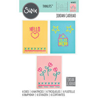 Sizzix - Thinlits Die - House, Heart, Flower and Star Stitchlits