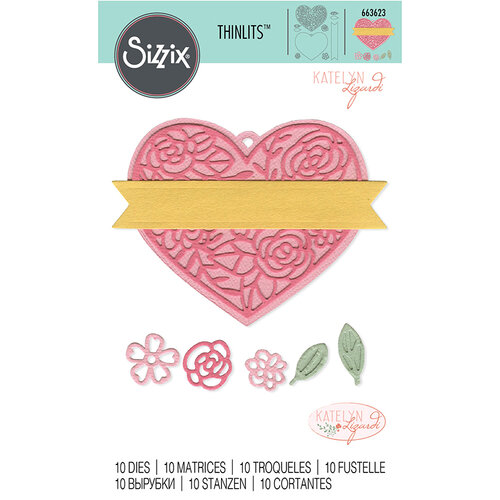 Sizzix - Thinlits Die - Heart Tag