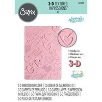 Sizzix - 3D Textured Impressions - Embossing Folders - Hearts