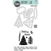Sizzix - Framelits Die with Clear Acrylic Stamps - Winter Trees