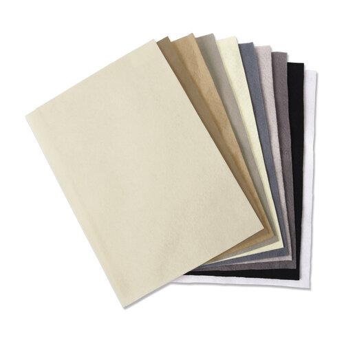 Sizzix - Making Essentials Collection - 10 Pack - Felt Sheets - Neutrals