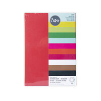 Sizzix - Surfaces - 8.5 x 11 - Cardstock Pack - 60 Pack - Festive Colors