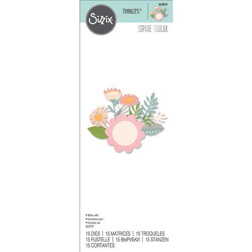 Sizzix - Thinlits Die - Floral Tropics