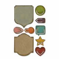 Sizzix - Tim Holtz - Alterations Collection - Sidekick - Side-Order Set - Thinlits Die - Noted