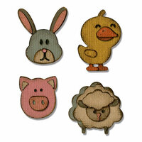 Sizzix - Tim Holtz - Alterations Collection - Sidekick - Side-Order Set - Thinlits Die - Critters