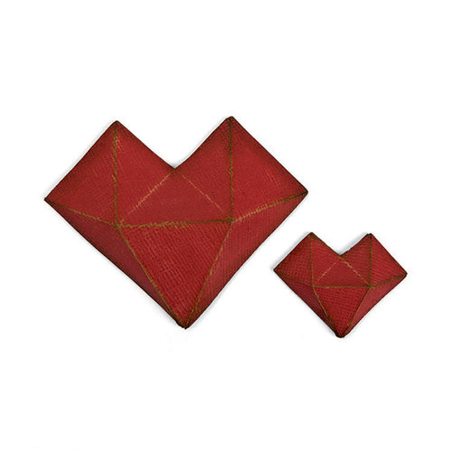 Sizzix - Tim Holtz - Alterations Collection - Thinlits Die - Faceted Heart