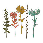 Sizzix - Tim Holtz - Alterations Collection - Thinlits Die - Wildflower Stems 1