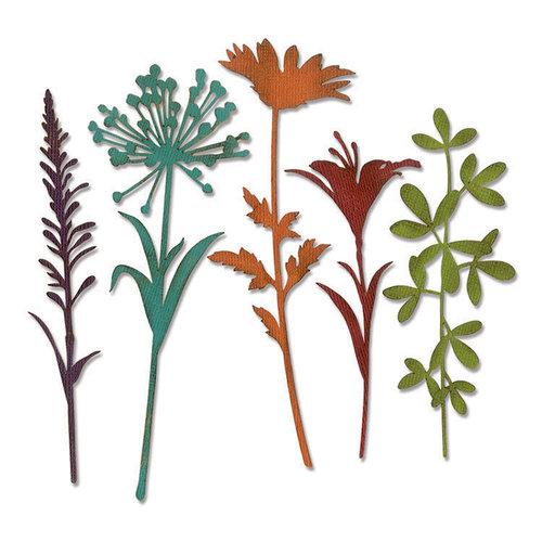 Sizzix - Tim Holtz - Alterations Collection - Thinlits Die - Wildflower Stems 2