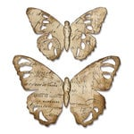 Sizzix - Tim Holtz - Alterations Collection - Bigz Die - Tattered Butterfly