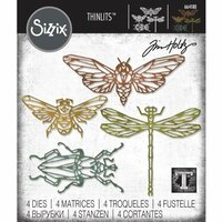 Sizzix - Tim Holtz - Alterations Collection - Thinlits Die - Geo Insects