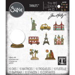 Sizzix - Tim Holtz - Alterations Collection - Thinlits Die - Tiny Travel Globe