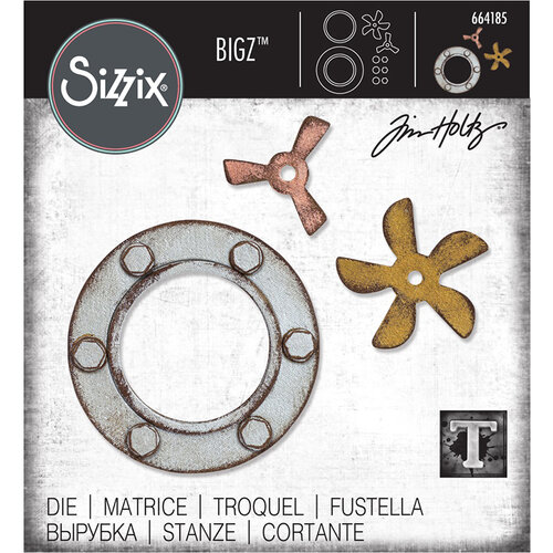 Sizzix - Tim Holtz - Alterations Collection - Bigz Die - Steampunk Parts