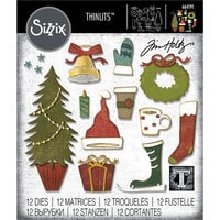 Sizzix - Christmas - Thinlits Die - Festive Things