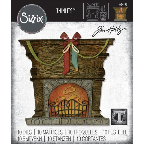 Sizzix - Christmas - Thinlits Die - Fireside