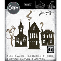 Sizzix - Tim Holtz - Halloween - Thinlits Die - Ghost Town