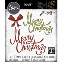 Sizzix - Tim Holtz - Thinlits Die - Christmas Ribbon