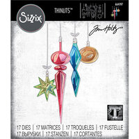 Sizzix - Tim Holtz - Christmas - Thinlits Die - Hanging Ornaments