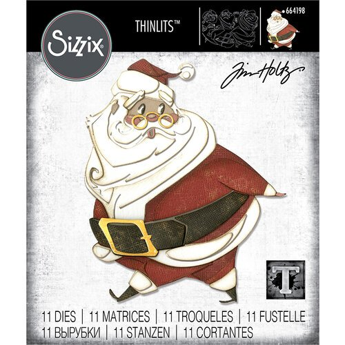 Sizzix - Christmas - Thinlits Die - Jolly St. Nick
